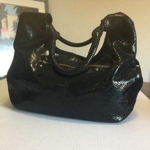 Maxine Couture Dark Navy Blue Shoulder Bag